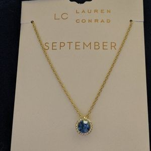 LC Lauren Conrad September Birthstone w/CZ Necklac